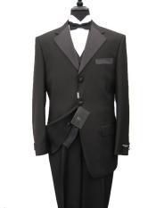 ID# OKF355 crafted professionally italian fabric Vested Tuxedo Superior fabric 150's Wool fabric Jacket + Pants + Shirt + Bow Tie
