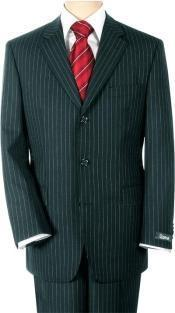 ID# B2K-11 UOMO Collezioni Sharp Dark color black Pinstripe Superior fabric 140's Wool fabric