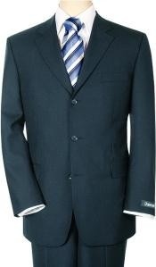 ID# RT78 Mid Night Blue Double Dark color black Vent Three buttons suit Superior fabric 140's Wool fabric