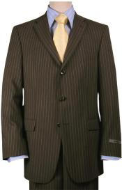 Brown Pinstripe Superior fabric
