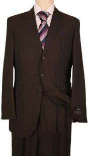 Dark Brown Pinstripe Two