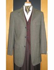 ID#VJ14746 Testardi 95% Wool,5% Cashmere 3 Button Gold/Brown Check Pattern Jacket Best Cheap Blazer For Affordable Cheap Priced Unique Fancy For Men Available Big Sizes on sale Men Affordable Sport Coats Sale