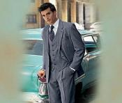 ID# SAMU303 Medium Gray  3 ~ Three Piece suit made from Superior fabric 150's Wool fabric