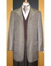 ID#VJ14745 Testardi Brand 95% Wool,5% Cashmere 3 Button Grey Check Pattern Jacket Best Cheap Blazer For Affordable Cheap Priced Unique Fancy For Men Available Big Sizes on sale Men Affordable Sport Coats Sale