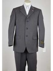 ID#SM999 Three Button Notch Collared Grey  Lightweight Material Summer Polyester Suits Men