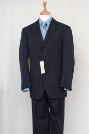 ID# FKK79 Navy Blue Wedding / Prom  Inexpensive - Cheap - Discounted Dress 2/3/Four buttons Lightweight Material Summer Polyester Suits Men