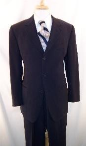 ID# MLD245 Dark navy blue colored  HIGH GRADE Superior fabric 150's Wool fabric Made In Spain Three Buttons Style suit