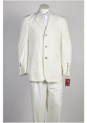 ID#NM413 Mens 3 Button Wedding All White Suit For Men For Sale