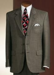 ID# GTF5 Shark Skin Dark Olive Green Three buttons Dress Business Suits for Men