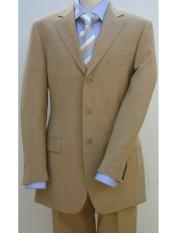 Bronze - Camel/Gold/Tan - Beige Color 3 Buttons Men's 3 Buttons Premier Quality Online Sale Clearance price $120