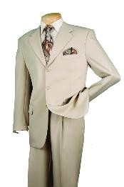 ID#RM29830  Three buttons Beige affordable suit online Reduced Price