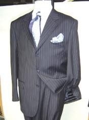 Pinstripe Three buttons Business