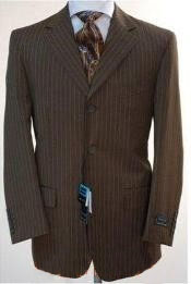 Chocolate brown pinstripe Three
