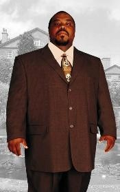 ID# ACU333 GIANNI Big and Tall Large Man - Plus Size Coco Chocolate brown Three buttons Inexpensive - Cheap - Discounted Reduced Price Up to Size 82 SUIT HAND MADE