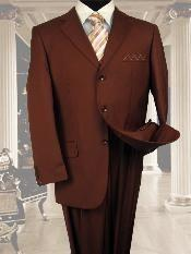 ID#NS021 Exclusive Light Weight Copper~Rust~cognac Three buttons Suit Hand Made