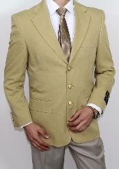 Three buttons Superior fabric 120's Gold Best Cheap Blazer For Affordable Cheap Priced Unique Fancy For Men Available Big Sizes on sale Men Affordable Sport Coats Sale Jacket