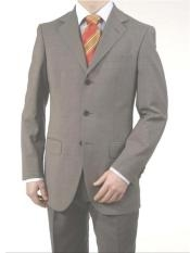 ID#A63_3P Midium Gray Light Gray Three buttons fully lined On Reduced Price Big and Tall Large Man ~ Plus Size Suits
