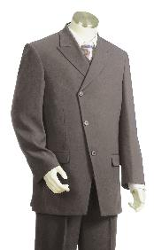 Luxurious Three buttons Grey Zoot Suit
