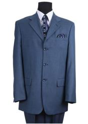 Blue 3 Button Suit