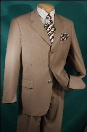 SKU3RR Luxurious Wool fabric feel Camel ~ Khaki~Bronz~Khaki - Three buttons