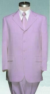 ID#PLU70 Beautiful Lavender Dress With Pastel Smooth Soft Fabric (Available in Three buttons Style Jacket + Pants) Lightweight Material Summer Polyester Suits Men