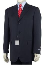 Three Buttons Navy Blue Suit
