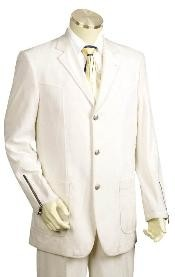 ID#TR5441 Three buttons Iced Silver Suit