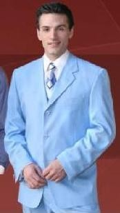 Mens Light Blue Suit
