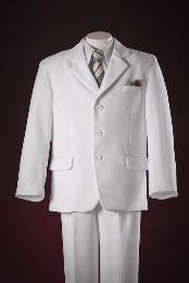 ID#IKA791 Three buttons Fashion White Kids-Toddler-Boy kids suits available in little boys 3 three piece suit for Men