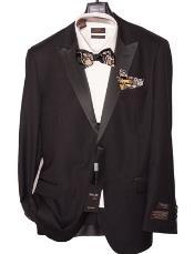 Modern Fit Black Tuxedo