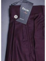Burgundy Suit Pleated creased
