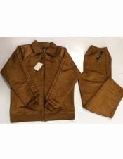 Mens Fashion Tobacco Suede