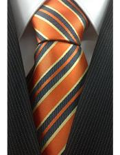 Orange With Yellow Necktie