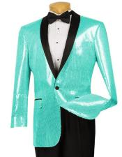 ID#DB20755 Turquoise Sequin Glitter ~ Shiny Paisley Black Lapel Fancy Dinner Jacket Patterned Tuxedo / Graduation Homecoming Outfits Best Cheap Blazer For Men Affordable Sport Coats Sale