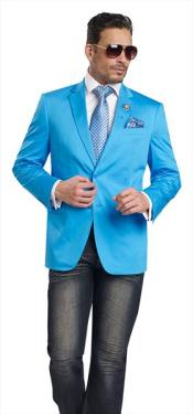 ID#VJ16280 Aqua 2 Piece 2 Button Best Cheap Blazer For Affordable Cheap Priced Unique Fancy For Men Available Big Sizes on sale Men Affordable Sport Coats Sale