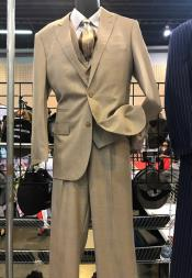 Button Beige Suit