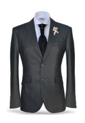 Button Peak Lapel Black