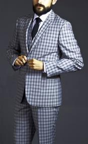 Two Button Black Pattern Suit