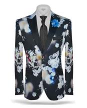 Floral Black Slim Fit