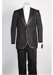 2 Button Black Suit