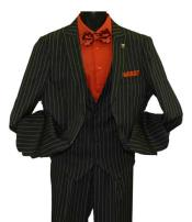 Peak Lapel Striped Two