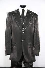 ID#DB23893 2 Button Black Zoot Suit