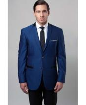 Blue 2 Button Mens
