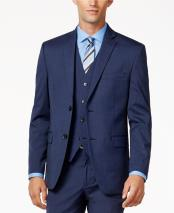 ID#KO19430 Light Blue Perfect for wedding 2 Button Medium Slim-Fit Fully lined Jacket