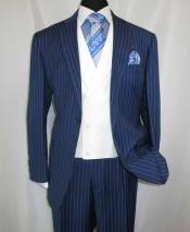 2 Button Pinstripe Single