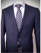 Button Blue Wool Suit