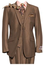 Two Button Brown Fit Suit