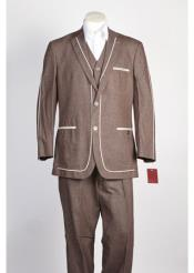 2 Button Brown Suit