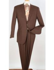 Button Brown Pleated Pants