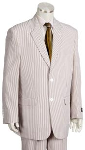 Button Pinstripe  Brown